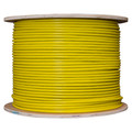 Bulk Shielded Cat6 Yellow Ethernet Cable, STP (Shielded Twisted Pair), Solid, Spool, 1000 foot thumbnail