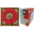 Shielded Plenum Fire Alarm / Security Cable, Red, 18/2 (18 AWG 2 Conductor), Solid, FPLP, Pullbox, 1000 foot thumbnail