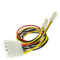 4 Pin Molex to Floppy Power Y Cable, 5.25 inch Male to Dual 3.5 inch Female, 8 inch thumbnail
