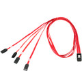 SAS SFF-8087 to SATA Breakout Cable, Mini 36 Pin SAS, 4 x SATA, 40 inch thumbnail