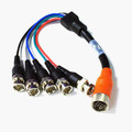 EZ Pull Orange Male to 5 BNC (RGBHV) Male Adapter Cable 1 foot thumbnail