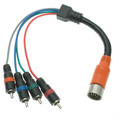 EZ Pull Orange Male to 4 RCA (RGB Component Video and Digital Audio) Male Adapter Cable 1 foot thumbnail