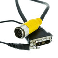 EZ Pull Yellow Male to DVI-D Male + 3.5mm Stereo Audio Male Adapter Cable 3 foot thumbnail