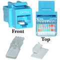 Cat5e Keystone Jack, Blue, Toolless, RJ45 Female thumbnail
