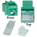311-120GR - Cat5e Keystone Jack, Green, Toolless, RJ45 Female