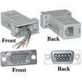 Modular Adapter, Gray, DB9 Male to RJ12 Jack thumbnail