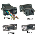 Modular Adapter, Black, DB9 Female to RJ45 Jack thumbnail