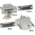 Modular Adapter, Beige, DB15 Male to RJ45 Female thumbnail