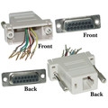 Modular Adapter, Gray, DB15 Female to RJ45 Female thumbnail