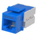 Cat6a Keystone Jack, Blue, RJ45 Female to 110 Punch Down thumbnail
