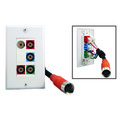 EZ Pull Audio/Video Wall Plate, Orange Male to Component Video (3 RCA Female, RGB) + Stereo Audio (2 RCA Female) Converter thumbnail