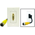 EZ Pull Audio/Video Wall Plate, Yellow Male to DVI-D Female thumbnail