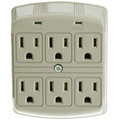 Surge Protector, 6 Outlet, MOV 370 Joules thumbnail