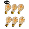 4 Watt (25W Equiv.) Warm (2200k) Dimmable LED Filament Light Bulb, E26, 6-pack thumbnail