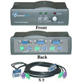 2 Port KVM Switch with Cables, VGA (HD15) and PS/2 (MiniDin6) thumbnail