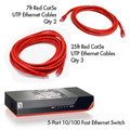Cat5e 10/100 Home/Office Networking Starter Kit (Red) thumbnail
