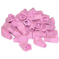 RJ45 Strain Relief Boots, Pink, 50 Pieces Per Bag thumbnail