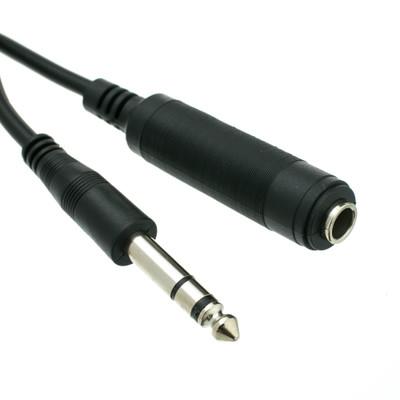 1/4 inch Stereo Extension Cable, TRS, 1/4 inch Male to 1/4 inch Female, 100 foot - Part Number: 10A1-622HD