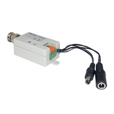 Active Video Balun, Male BNC Connector to Bare Wire Terminals, Camera Side - Part Number: 10B1-01220