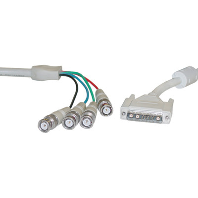 DB13W3 Male to BNC x 4 Male Video Cable, with Ferrite Bead, 6 foot - Part Number: 10D6-03106