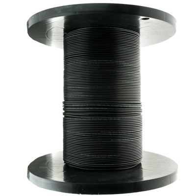 6 Fiber Indoor/Outdoor Fiber Optic Cable, Multimode, 62.5/125, Black, Riser Rated, Spool, 1000 foot - Part Number: 10F3-206NH