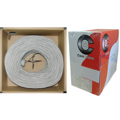 Fire Alarm / Security Cable, White, 18/4 (18 AWG 4 Conductor), Solid, FPLR, Pullbox, 1000 foot - Part Number: 10F5-0491TH