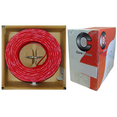 Shielded Fire Alarm / Security Cable, Red, 16/2 (16 AWG 2 Conductor), Solid, FPLR, Pullbox, 1000 foot - Part Number: 10F6-5271TH