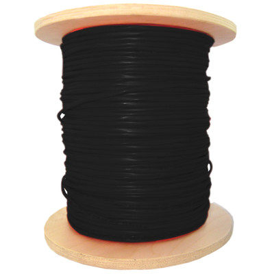 Fire Alarm / Security Cable with Aquaseal, Black, 16/2 (16 AWG 2 Conductor), Stranded, FPL, Spool, 1000 foot - Part Number: 10F6-6222MH