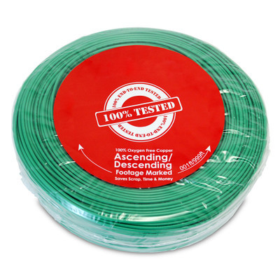 Security/Alarm Wire, Green, 22/2 (22AWG 2 Conductor), Stranded, CMR / Inwall rated, Coil Pack, 500 foot - Part Number: 10K4-0251BF