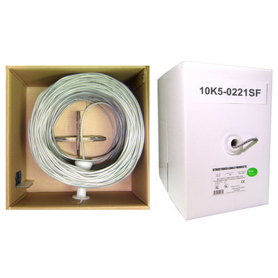 Security/Alarm Wire, Gray, 18/2 (18AWG 2 Conductor), Stranded, CMR / Inwall rated, Pullbox, 500 foot - Part Number: 10K5-0221SF