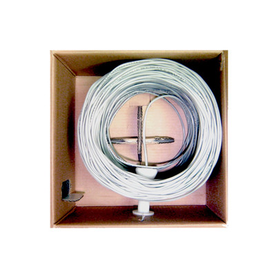 Security/Alarm Wire, White, 18/4 (18AWG 4 Conductor), Stranded, CMR / Inwall rated, Pullbox, 500 foot - Part Number: 10K5-0491SF
