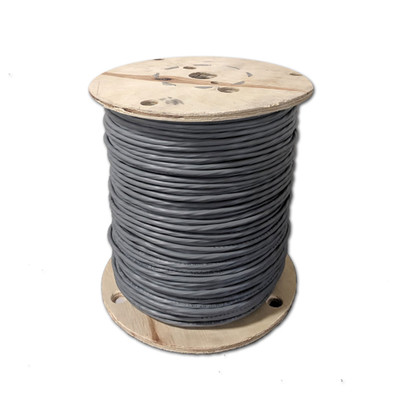 Shielded Security/Alarm Wire, Gray, 18/4 (18AWG 4 Conductor), Stranded, CM / Inwall rated, Spool, 1000 foot - Part Number: 10K5-5421MH