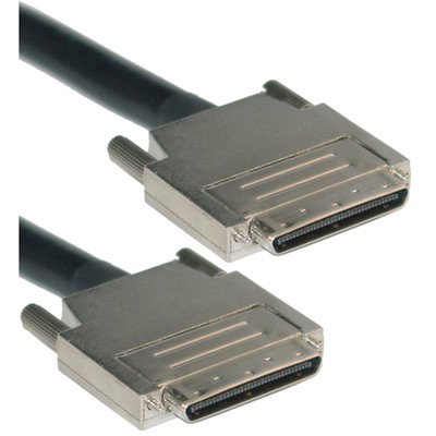 SCSI III Cable, VHDCI 68 (0.8mm) Male, Offset Orientation, 6 foot - Part Number: 10N3-14106