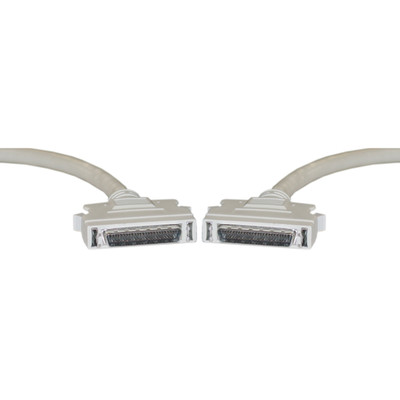 SCSI II cable, HPDB50 (Half Pitch DB50) Male, 25 Twisted Pairs, 3 foot - Part Number: 10P1-02103