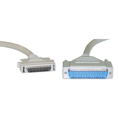 SCSI II cable, HPDB50 (Half Pitch DB50) Male to DB50 Male, 25 Twisted Pairs, 6 foot - Part Number: 10P1-07106