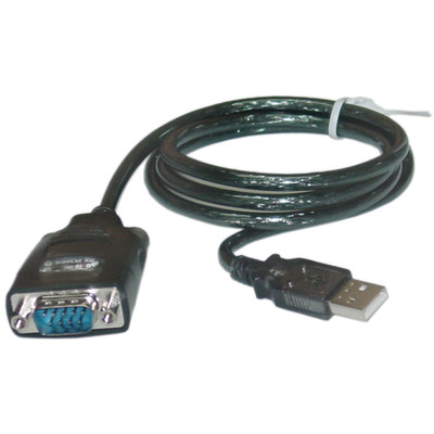 USB to Serial Adapter Cable, USB Type A Male to DB9 Male, 3 foot - Part Number: 10U1-06103