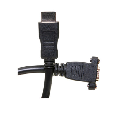 HDMI Extension Cable, High Speed with Ethernet, HDMI-A male to Panel Mount HDMI-A female , 4K @ 30Hz, 1 foot - Part Number: 10V3-12201