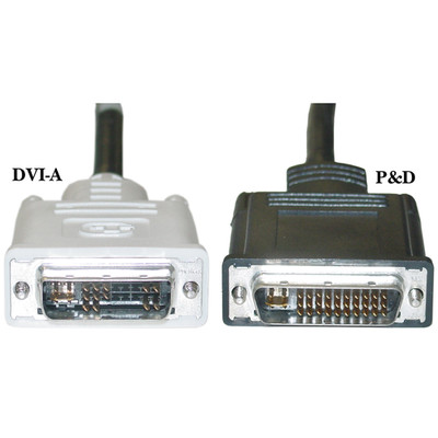 VESA Plug and Display (P&D) to DVI Analog Video Cable, M1-DA (M1) Male to DVI-A Male, 3 meter (10 foot) - Part Number: 10V5-05303