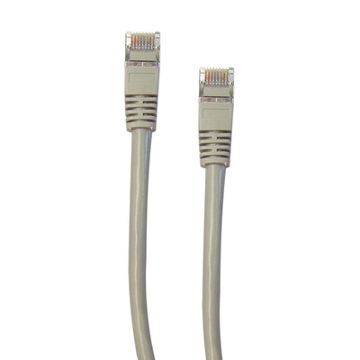 Shielded Cat5e Gray Ethernet Cable, Snagless/Molded Boot, 5 foot - Part Number: 10X6-52105