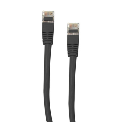 Shielded Cat5e Black Ethernet Cable, Snagless/Molded Boot, 7 foot - Part Number: 10X6-52207