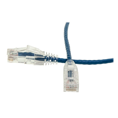 Cat6 Blue Slim Ethernet Patch Cable, Snagless/Molded Boot, 2 foot - Part Number: 10X8-86102