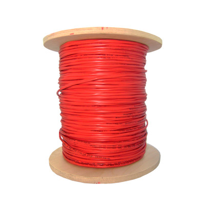 Shielded Plenum Fire Alarm / Security Cable, Red, 14/2 (14 AWG 2 Conductor), Solid, FPLP, Spool, 1000 foot - Part Number: 11F7-5271NH