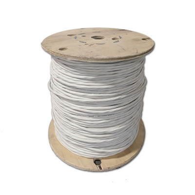 Shielded Plenum Security Cable, White, 18/6 (18 AWG 6 Conductor), Stranded, CMP, Spool, 1000 foot - Part Number: 11K5-5691MH
