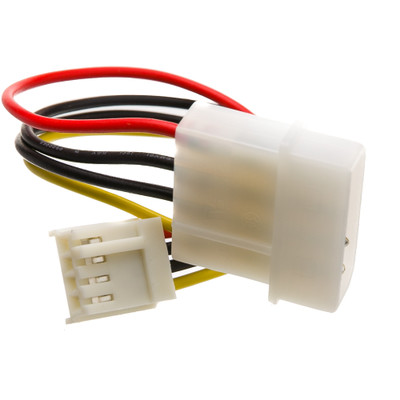 4 Pin Molex to Floppy Power Cable, 5.25 inch Male to 3.5 inch Female, 6 inch - Part Number: 11W3-05206