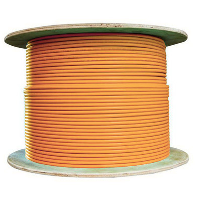Plenum Cat6 Bulk Cable, Orange, Solid, Shielded, CMP, 23 AWG, Spool, 1000 foot - Part Number: 11X8-531NH