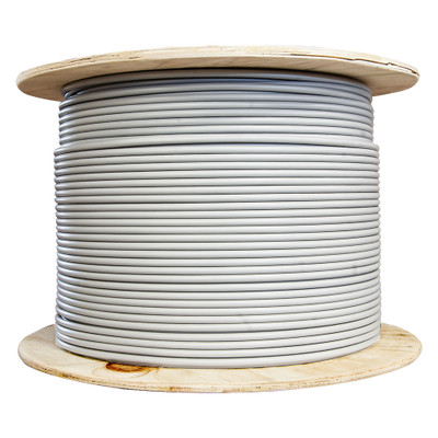 Bulk Cat6a Gray Ethernet Cable, Stranded, UTP (Unshielded Twisted Pair), Spool, 1000 foot - Part Number: 13X6-021MH
