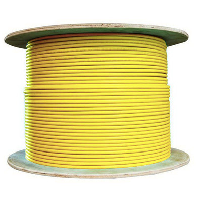 Bulk Shielded Cat6a Yellow Ethernet Cable, 10 Gigabit, Solid, 500 Mhz, 23 AWG, Spool, 1000 foot - Part Number: 13X6-581NH