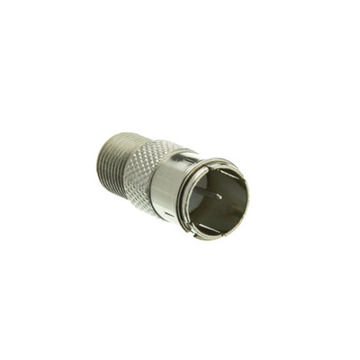 F-pin Coaxial Quick Connect Adapter, Threaded F-pin Female to Quick F-pin Male - Part Number: 200-103