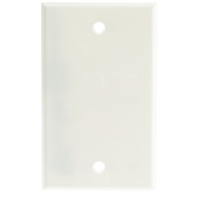 Wall Plate, White, Blank Cover Plate - Part Number: 200-258WH