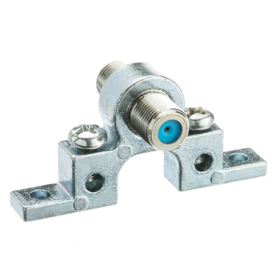 F-pin Coaxial Grounding Block, 2.5 GHz, Single F-pin Female - Part Number: 200-278
